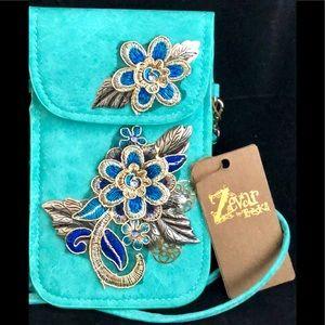 Embellished Small Gorgeous Wristlet/Crossbody Bag